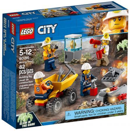 Конструктор LEGO City: Бригада шахтеров 82 элемента