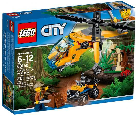 Конструктор LEGO City: Грузовой вертолёт исследователей джунглей 201 элемент 60158 lego city 60123 лего сити грузовой вертолёт исследователей вулканов