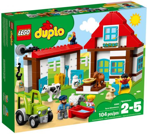 Конструктор LEGO Duplo: День на ферме 104 элемента 10869 lego duplo конструктор гоночный автомобиль 10589