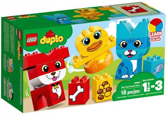 Конструктор LEGO Duplo: Мои первые домашние животные 18 элементов 10858 конструктор lego мои первые домашние животные 18дет