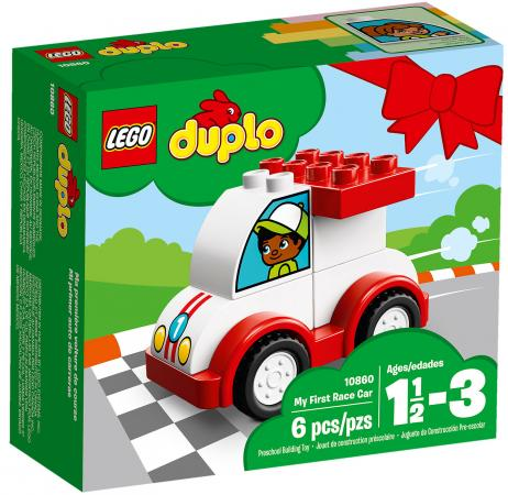 Конструктор LEGO Duplo: Мой первый гоночный автомобиль 6 элементов 10860 lego duplo конструктор гоночный автомобиль 10589