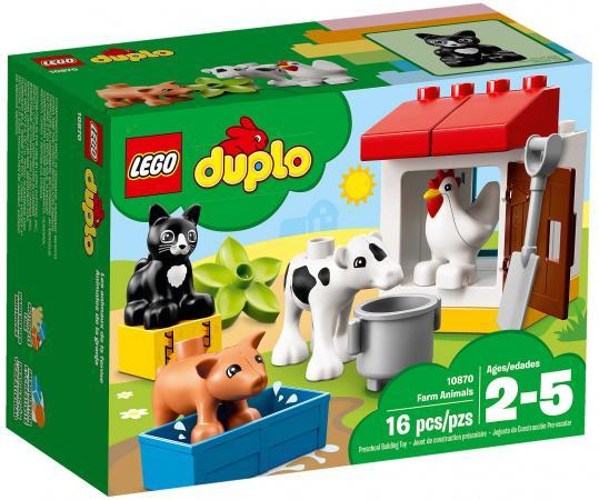 Конструктор LEGO Duplo: Ферма - домашние животные 16 элементов 10870 конструкторы clever мой маленький конструктор тетрадь домашние животные