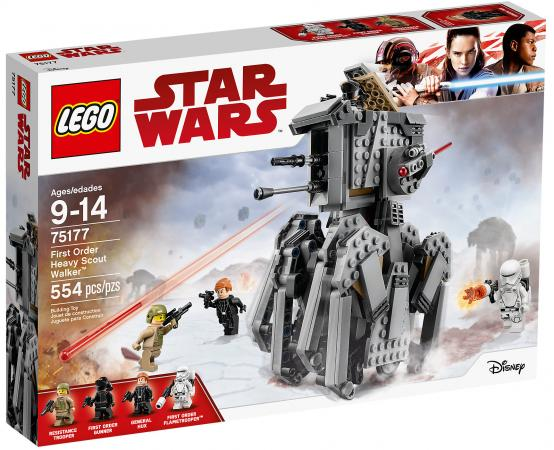 Конструктор LEGO Star Wars: Тяжелый разведывательный шагоход Первого Ордена 554 элемента 75177 конструктор lego star wars тяжелый разведывательный шагоход первого ордена 554 элемента 75177