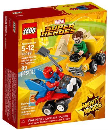 Конструктор LEGO Super Heroes: Mighty Micros - Человек-паук против Песочного человека 89 элементов цены