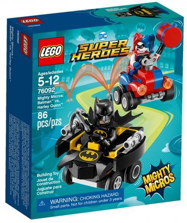 Конструктор LEGO Super Heroes: Mighty Micros - Бэтмен против Харли Квин 86 элементов цены