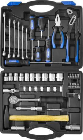 Набор инструментов СИБИН 27765-H56 слесарно-монтажного инструмента 56предметов цена
