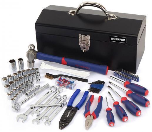 Набор инструментов WORKPRO W009027 в металлическом ящике 160предмета workpro w1210 портативный набор инструментов 10 штук
