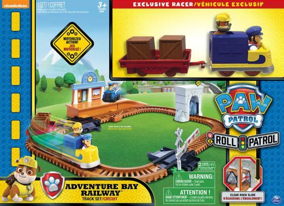 Набор PAW PATROL Железная дорога спасателей разноцветный 16695 набор paw patrol трек спасателей синий 16683