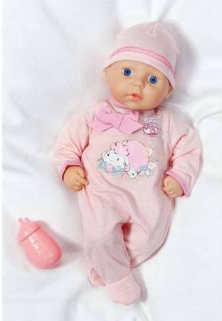 Кукла ZAPF Creation my first Baby Annabell с бутылочкой 36 см 700-532 zapf creation одежда для куклы my first baby annabell платье цвет красный