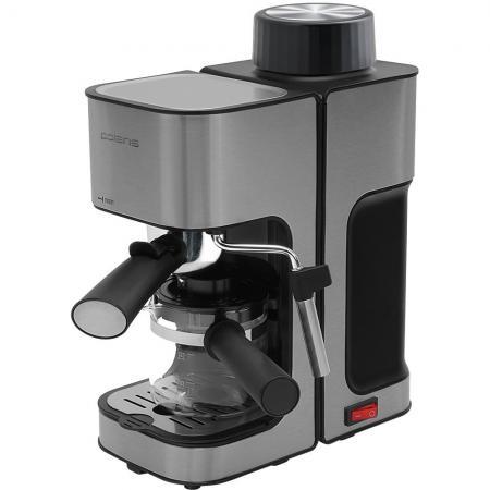 Кофеварка эспрессо Polaris PCM 4003AL 800Вт нержавеющая сталь кофеварка polaris pcm 1526e adore crema эспрессо шампань