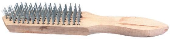 Кордщетка ручная SPARTA 748265 6-рядная металлическая с деревянной ручкой кордщетка ручная stayer 35020 5 щетка master проволочная стальная с деревянной ручкой 5 рядов