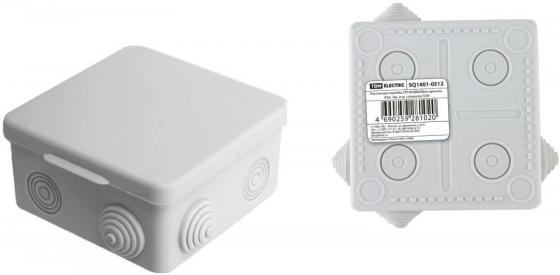 Коробка распаячная ТДМ SQ1401-0512 ОП 80х80х50мм крышка IP54 7вх. инд.штрихкод