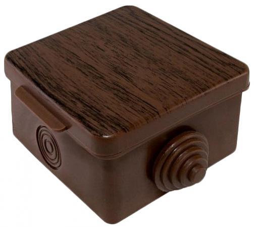 Коробка распаячная ТДМ SQ1401-0611 65х65х50мм крышка бук IP54 4вх.