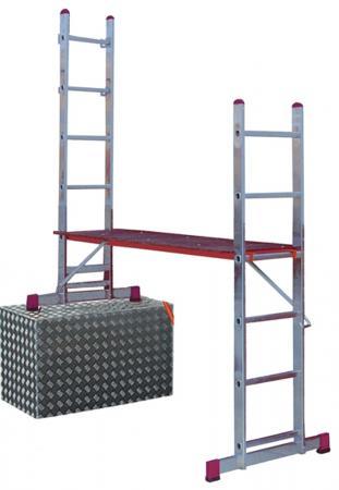 Подмости KRAUSE CORDA KS-080011 2х6 малые лестничные раб. высота 3 и 4.05 м стремянка krause safety ks 126368 8 ступеней раб высота 3 71 м