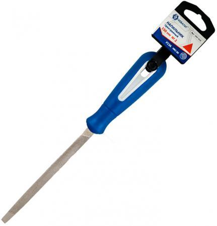 Напильник трехгранный КОБАЛЬТ 247-415 для заточки ножовок, двухкомпонентная рукоятка, 150мм, подвес