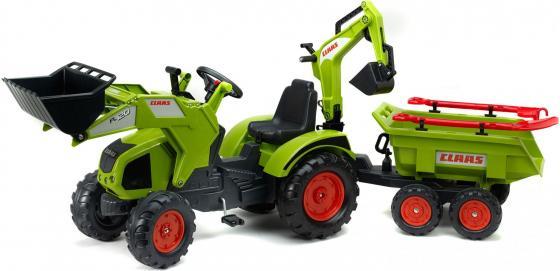 Каталка-самосвал — трактор-экскаватор пластик от 2 месяцев на колесах зеленый FAL 1010WH каталка квадроцикл falk принцесса лиловый от 3 лет пластик fal608