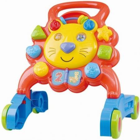 Ходунки Playgo Лев пластик от 1 года на колесах разноцветный Play 2254 каталка playgo play 1765 пластик от 1 года на колесах разноцветный