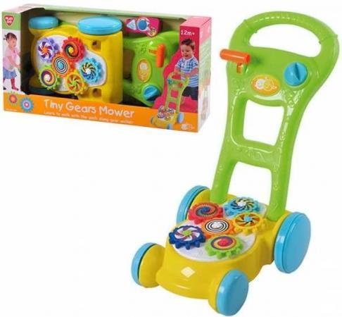 Каталка-ходунок Playgo Каталка -ходунок с шестеренками пластик от 1 года на колесах разноцветный 4892401025777