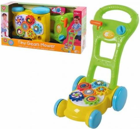 Каталка-ходунок Playgo Каталка -ходунок с шестеренками пластик от 1 года на колесах разноцветный 4892401025777 каталка ходунки play 2254 лев playgo