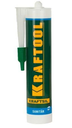 Герметик силиконовый KRAFTOOL 41255-0 белый санитарный для помещений с повышенной влажностью 300мл герметик силиконовый зубр 41245 5