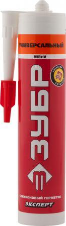 цена на Герметик силиконовый ЗУБР 41233-0 280мл эксперт белый универсальный