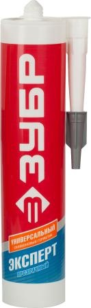 Герметик силиконовый ЗУБР 41233-2 280мл эксперт прозрачный универсальный герметик силиконовый ремонт на 100% универсальный цвет прозрачный 260 мл
