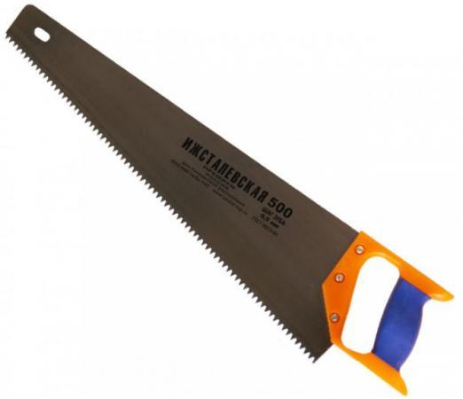 Ножовка ИЖСТАЛЬ 030108-050 500мм шаг 6.5мм по дереву с пластмассовой ручкой ножовка по дереву brigadier 63240 lite 500мм