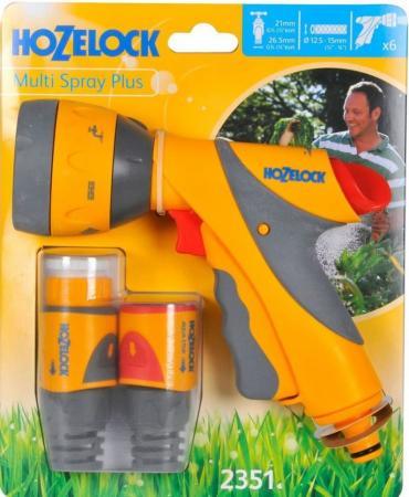 цена на Начальный набор для полива HOZELOCK 2351 Multi Spray Plus Пистолет-распылитель, коннекторы 6 шт.