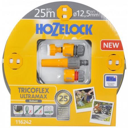 Набор HOZELOCK 116242 TRICOFLEX ULTRAMAX STARTER SET ДЛЯ ПОЛИВА 12.5 MM 25 M цена
