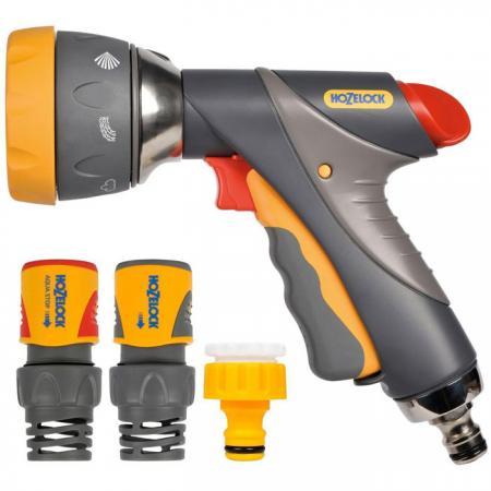 Начальный набор для полива HOZELOCK 2371 Multi Spray Pro Пистолет-распылитель, коннекторы 6 шт. пистолет hozelock 2676 multi spray