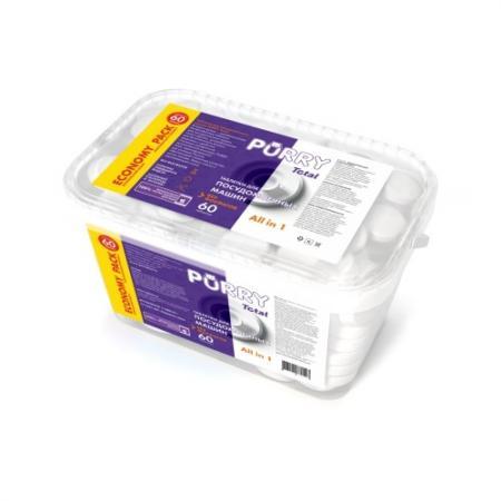 PURRY Total таблетки для ПММ с натуральной горчицей 60 шт в индивидуальной упаковке таблеткидляпмм эко60шт в упаковке snowter