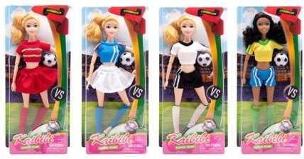 Кукла Kaibibi Футболистка на арене, 29 см, мячик в наборе, в ассорт. кукла мария 29 см в ассорт
