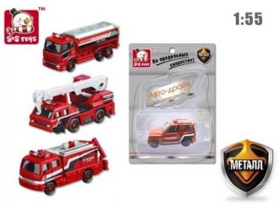 Пожарная машина Наша Игрушка Пожарная бригада красный 611181