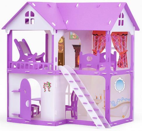 Домик для кукол Коттедж Светлана бело-сиреневый с мебелью kidkraft открытый коттедж с мебелью
