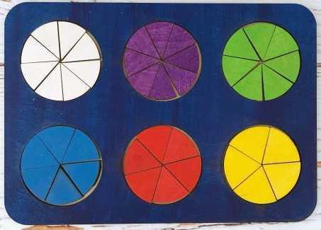 Рамка вкладыш Дроби, Никитин, 6 кругов, ур.2 цена