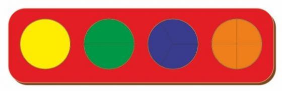 Рамка вкладыш Дроби, Никитин, 4 круга, ур.1, в асс-те рамка вкладыш woodland 011103 ёжик