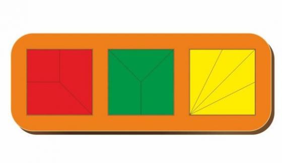 Рамка вкладыш Сложи квадрат, Никитин, 3 квадрата, ур.2, в асс-те рамка вкладыш woodland 011103 ёжик