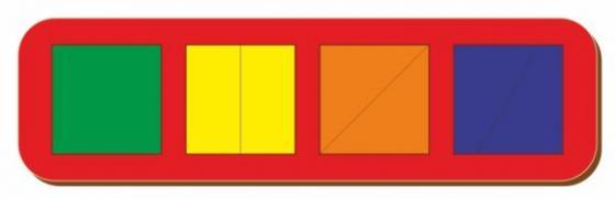 Рамка вкладыш Сложи квадрат, Никитин, 4 квадрата, ур.1, в асс-те рамка вкладыш woodland 011103 ёжик