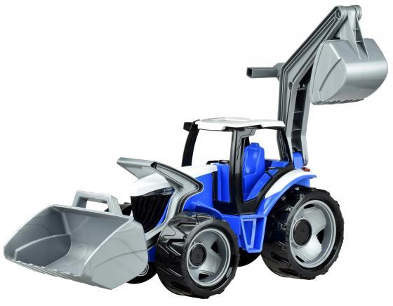 купить Трактор Лена Трактор с грейдером и ковшом красный 2081 по цене 1870 рублей