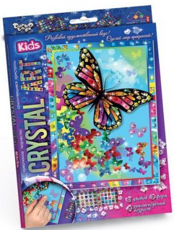 Набор креативного творчества ДАНКО-ТОЙС Crystal Art. Бабочки от 5 лет