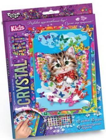 Набор креативного творчества ДАНКО-ТОЙС Crystal Art. Котенок от 5 лет