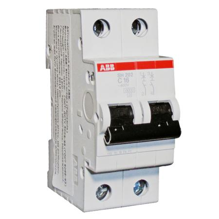 Автомат ABB SH202L C32 2-полюсной автомат 3p 63а тип с 6 ka abb s203