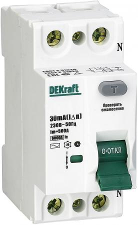 Выключатель DEKRAFT 14081DEK диф. тока 4п 63а 30ма ac УЗО-03 6ка реле dekraft 23114dek
