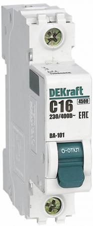 Выключатель DEKRAFT 11054DEK авт. мод. 1п c 16а ВА-101 4.5ка