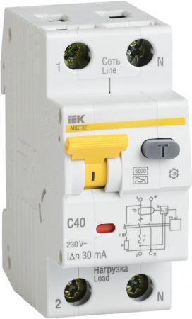 Выключатель автоматический дифференциального тока ИЭК 2п 32А/30мА C АВДТ 32 MAD22-5-032-C-30 авдт 63 2p c40 100ма tdm sq0202 0008 автоматический выключатель дифференциального тока