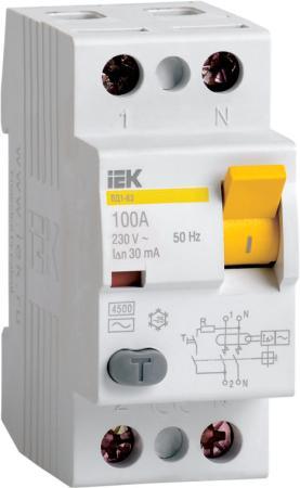 Выключатель дифференциального тока ИЭК 2п 25А/30 мА УЗО MDV10-2-025-030 выключатель автоматический дифференциального тока иэк 2п 25а 30ма ад 12 mad10 2 025 c 030