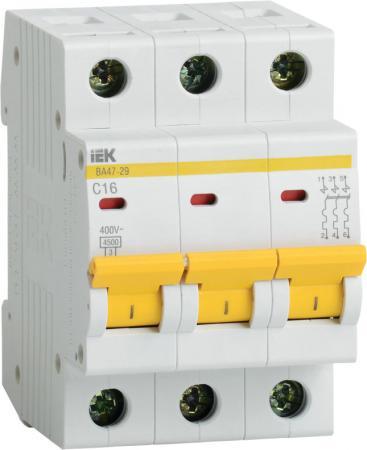 Выключатель автоматический модульный ИЭК 3п C/ 32А ВА 47-29 MVA20-3-032-C путаница