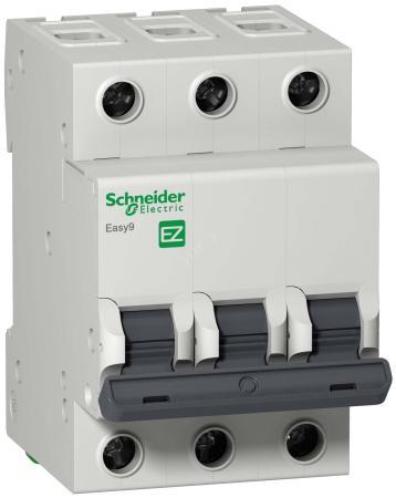 Выключатель автоматический Schneider Electric EASY9 ВА 3П 25А C 4.5кА 3DIN 3полюса 82х54мм