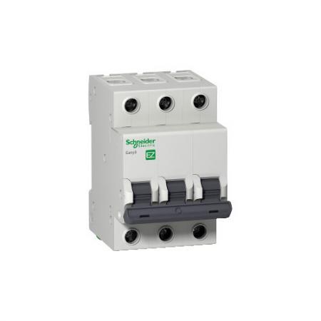 Выключатель автоматический Schneider Electric EASY 9 EZ9F34350 модульный 3п C 50А 4.5кА выключатель автоматический модульный schneider electric 3п c 40а 4 5ка easy 9 sche ez9f34340