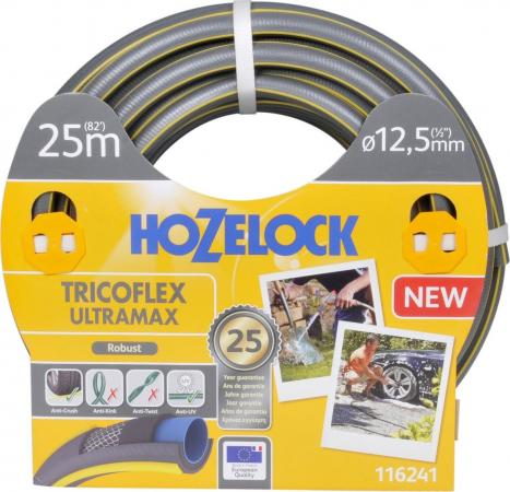 Шланг HOZELOCK 116241 TRICOFLEX ULTRAMAX 25м 1/2 пвх шланг tricoflex ultramax 3 4 25м